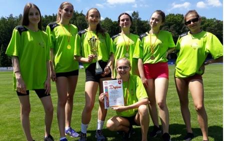 Złoty medal w  wojewódzkiej licealiadzie w drużynowych biegach przełajowych